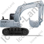 Excavator Right Grey Icon