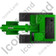 Excavator Top Green Icon, PNG/ICO, 64x64