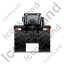 Farm Tractor Back Black Icon, PNG/ICO, 64x64