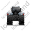 Farm Tractor Back Grey Icon