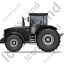 Farm Tractor Left Black Icon, PNG/ICO, 64x64