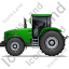 Farm Tractor Left Green Icon, PNG/ICO, 64x64