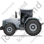 Farm Tractor Left Grey Icon, PNG/ICO, 64x64