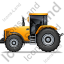 Farm Tractor Left Yellow Icon