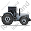 Farm Tractor Right Grey Icon, PNG/ICO, 64x64