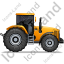Farm Tractor Right Yellow Icon, PNG/ICO, 64x64