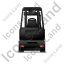 Forklift Truck Back Black Icon
