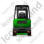 Forklift Truck Back Green Icon