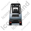 Forklift Truck Back Grey Icon