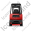 Forklift Truck Back Red Icon