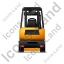 Forklift Truck Back Yellow Icon