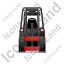 Forklift Truck Front Red Icon