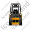 Forklift Truck Front Yellow Icon
