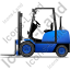 Forklift Truck Left Blue Icon