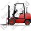 Forklift Truck Left Red Icon