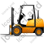 Forklift Truck Left Yellow Icon