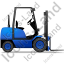 Forklift Truck Right Blue Icon
