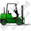 Forklift Truck Right Green Icon