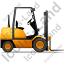 Forklift Truck Right Yellow Icon, PNG/ICO, 64x64