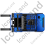 Forklift Truck Top Blue Icon