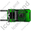 Forklift Truck Top Green Icon, PNG/ICO, 64x64