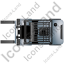 Forklift Truck Top Grey Icon