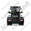 Steam Roller Back Black Icon, PNG/ICO, 64x64