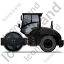 Steam Roller Left Black Icon, PNG/ICO, 64x64