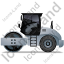 Steam Roller Left Grey Icon, PNG/ICO, 64x64