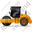 Steam Roller Left Yellow Icon, PNG/ICO, 64x64