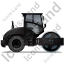 Steam Roller Right Black Icon, PNG/ICO, 64x64