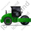 Steam Roller Right Green Icon, PNG/ICO, 64x64