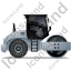 Steam Roller Right Grey Icon, PNG/ICO, 64x64