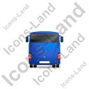 Coach Back Blue Icon, PNG/ICO, 128x128