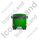 Coach Back Green Icon, PNG/ICO, 128x128