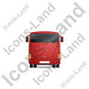 Coach Back Red Icon, PNG/ICO, 128x128
