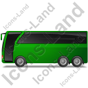 Coach Left Green Icon