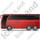 Coach Left Red Icon, PNG/ICO, 128x128