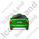 Taxi Back Green Icon, PNG/ICO, 128x128