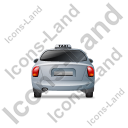 Taxi Back Grey Icon, PNG/ICO, 128x128