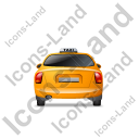 Taxi Back Yellow Icon, PNG/ICO, 128x128
