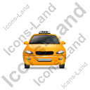 Taxi Front Yellow Icon, PNG/ICO, 128x128