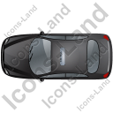 Taxi Top Black Icon, PNG/ICO, 128x128