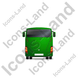 Coach Back Green Icon, PNG/ICO, 256x256