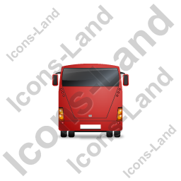 Coach Back Red Icon, PNG/ICO, 256x256