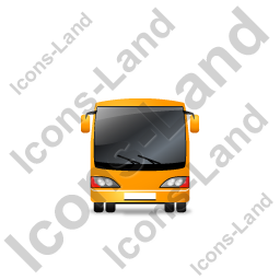 Coach Front Yellow Icon, PNG/ICO, 256x256