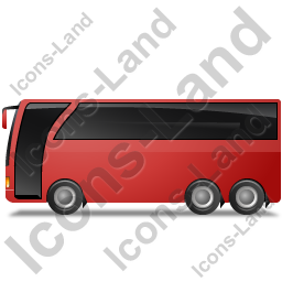 Coach Left Red Icon, PNG/ICO, 256x256