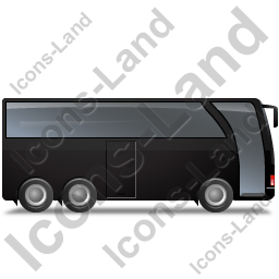 Coach Right Black Icon, PNG/ICO, 256x256