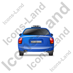Taxi Back Blue Icon