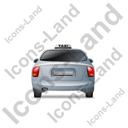 Taxi Back Grey Icon